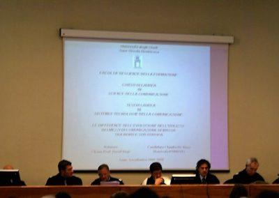 2011 In commissione - Laurea Claudia De Biase